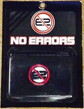 "12 Pairs of Individually Packaged ""NO ERRORS"" WRISTBANDS / SWEATBANDS - BLACK!!"