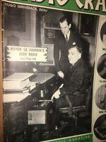 Radio Craft Magazine October 1940 Issue. Mayor LA Guardia's Desk Radio WWII Era