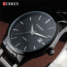 CURREN Men's relogio masculino Luxury Full Stainless Steel Analog Display Date