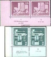 DDR 1853DV-1854DV mit Druckvermerk (kompl.Ausg.) gestempelt 1973 Aufbau in der D