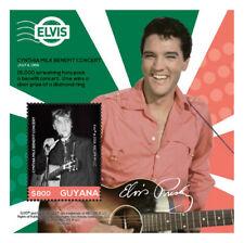 Guyana 2015 - Elvis Presley - Milk Benefit concert - Stamp Souvenir Sheet MNH