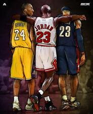 "266 Kobe Bryant - LA Lakers NBA MVP Basketball Last Shoot 14""x17"" Poster"