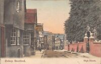 POSTCARD   HERTS    BISHOP  STORTFORD   High  Street   Circa  1907   RP