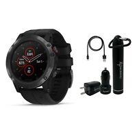 Garmin Fenix 5X Plus Sapphire GPS Watch Wearable4U Power Bundle 010-01989-00