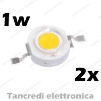 2X Chip led 1W bianco freddo 350mA 3V 3.6V alta luminosità lampadina lampada