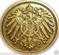 German Empire 1907A Pfennig Coin  Extra Fine