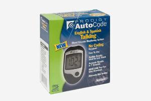 Prodigy Autocode Talking Blood Glucose Meter Kit (English-Spanish-French-Arabe)