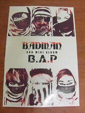 B.A.P - Badman (3rd Mini Album) [OFFICIAL] POSTER *NEW* K-POP BAP