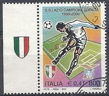 2000 ITALIA USATO LAZIO CAMPIONE D'ITALIA DI CALCIO APPENDICE SCUDETTO SINISTRA