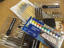 43PC ARTISTS  WATER COLOURS PAINTING AND BRUSH SET HOBBIES CRAFTS ARTISTIC KIT
