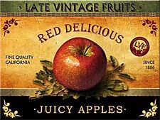 Juicy Apple ad. steel fridge magnet (na)