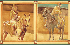 COWGIRLS AND COWBOYS HORSES IN FRAMES Wallpaper bordeR Wall