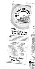 1928 Hudson River Day Line Best Trip Ship Ad