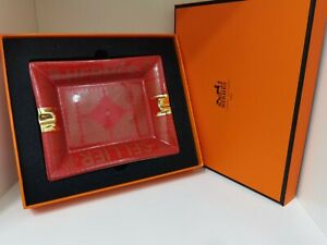 Hermes Sellier change tray Aschenbecher ashtray Rot Red mit BOX