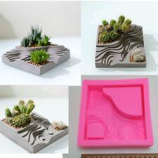 Craft Clay Vase Cactus Planter Mold Silicone Concrete Planter Cement Mould