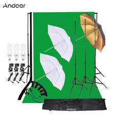 Andoer Photo Studio Kit Softbox+45W Bulb+Socket+Backdrop+Stand Set+Clamp et F8T1