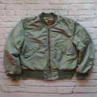 Vintage 60 USAF US Air Force L-2B Flight Bomber Jacket Blue Anchor Overall MA-1