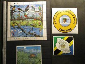(May 027) Tanzania blocks + stamps, unused MNH