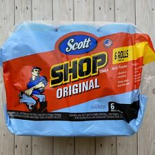 Scott Multi Purpose Blue Shop Paper Towels-6 Rolls(55 Sheets per Roll x 6 Rolls)