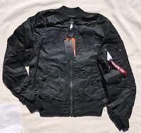 ALPHA INDUSTRIES MA-1 Slim Jacket Souvenir Shinto Reversible Flight Bomber Black