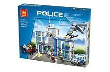 Wange Police Station Name Brand Compatible Bricks & Blocks