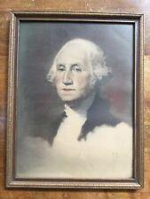 VINTAGE GEORGE WASHINGTON GILBERT STUART PORTRAIT (in wooden original frame)