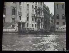 Glass Magic lantern slide VENICE - ON THE GRAND CANAL NO2 C1910 ITALY