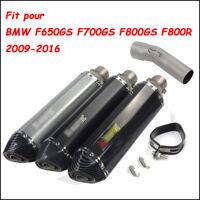 Silencieux d'échappement intermédiaire pour BMW F650GS F700GS F800GS F800R 09-16