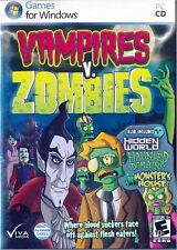 Vampires Vs. Zombies - Time Management Strategy Transylvania Undead PC NEW