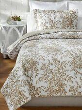 Laura Ashley BEDFORD 100% Cotton Reversible 2 Pc TWIN Quilt Set ~ NIP