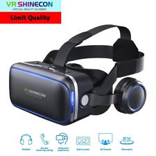 VR Shinecon 6.0 Plus Headset Virtual Reality 3D Glasses for Iphone Samsung Sony