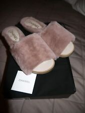 Chanel Shearling Mules/Slides