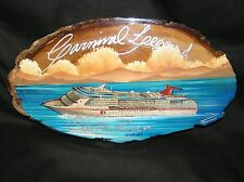 CARNIVAL LEGEND CRUISE SHIP OCEAN LINER PLAQUE PICTURE ON WOOD COSTA RICA