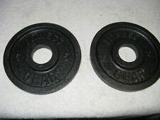 New Pair of 5 Lb Plates Olympic Size Barbell Weights Fitness Gear - 10lbs total