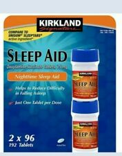 Kirkland Signature Sleep Aid Doxylamine Succinate 25 Mg 2 Bottles X 96 Tabs