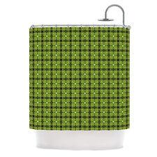 "Kess InHouse NEW Matthias Hennig ""Floral Green"" Floral Geometric Shower Curtain"