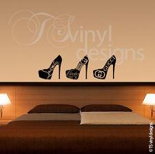 Womens, Ladies, Girls, High Heel Vinyl Wall Art Sticker Graphic Various Designs