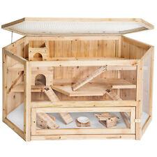 Cage lapin clapier hamster cochon d'Inde petit rongeur maison en bois