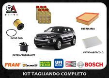 Kit tagliando EVOQUE LAND ROVER 2.2 150cv  6 Litri Olio Catrol 5w30