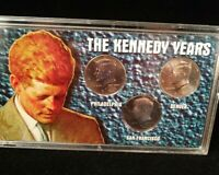 """Coin Set """" The Kennedy Years"""" 3 Kennedy Half Dollars Sealed 1996 1995 1977"""