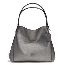 NWT Coach Metallic Leather Edie 31 Shoulder Bag Gunmetal F36503