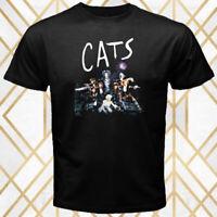 Cats Theater Musical Logo Men's Black T-Shirt Size S - 3XL