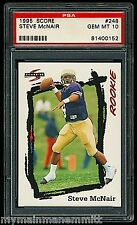 PSA 10 STEVE MCNAIR 1995 SCORE ROOKIE TENNESSEE TITANS AND HOUSTON OILERS