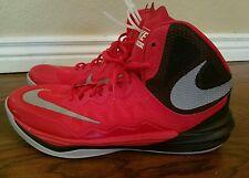 Nike Men's Shoe Prime Hype DF 2 Basketball Shoe 806941-600 Red Black Gray sz 9.5