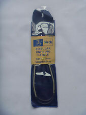 BIRCH circular knitting needles size 2.25 length 40cm. new unused