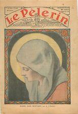 Portrait de la Vierge Virgin Sainte Marie Mary Rose Mystique Icône Icon 1933