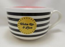 "Wake Up Live Microwave MicrowaveMe Soup Coffee Mug Bowl 5"" Steam Lid Ciroa"
