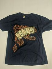 New listing Shirt Woot Time To Fold Bad Poker Hand Men's Large Graphic T Shirt Blue