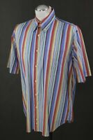 BURBERRY London Mens NEW SUSSEX Colourful Striped SHIRT - Size 3 - Large - L