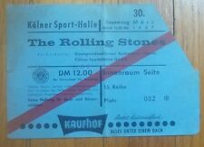 Rolling Stones Ticket March 30,1967 Colonge,W.Germany Brian Jones' Last Tour